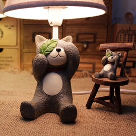 Cute Resin Little Bear Decoration Design Decorative Table Lamp