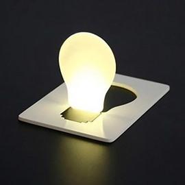 Creative Design Ultrathin Portable LED Battery Credit Card Light Bulb
