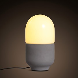 White and Grey Ceramic Simple Style Bedroom Decoration Table Lamp