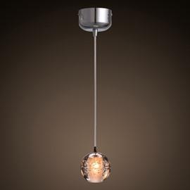 Transparent Simple Style Crystal Ball Shape Design Decorative Pendant Light