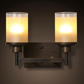 Modern Design Hardware Simple 2-Head Decorative Wall Light