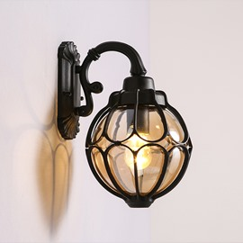Black Basis with Heart Shape Hardware Classic Wall Light