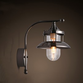 Wonderful Basis with Transparent Lampshade Hardware Classic Wall Light