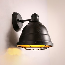 Retro Nostalgic Industrial Style Hardware 1-Head Decorative Wall Light
