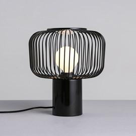 Black Cage Shape Hardware Modern Simple Design Table Lamp