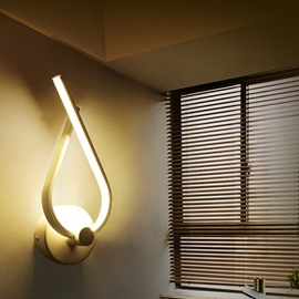White Water-drop Shape Hardware 1 Bulb Soft Lighting Wall Light