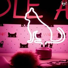 Cat Outline Pattern PVC Durable Soft Lighting 1 Piece LED Light