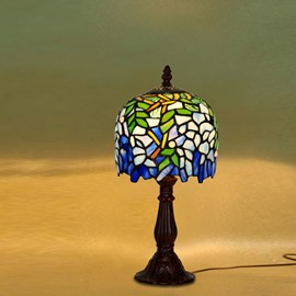 Wonderful Flowers Retro Style Bedroom and Study Room Reading Lamp Tiffany Lamp
