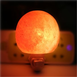 Creative Circular Himalayan Ionic Salt Crystal Lamp Multi-Specifications Light