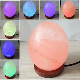 Colorful Egg-Shaped Himalayan Ionic Salt Crystal Lamp Multi-Specifications Light