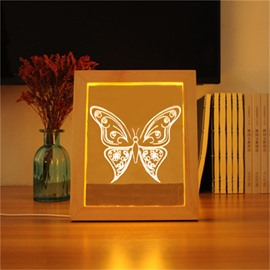 3D Beautiful Butterfly Modern and Creative Acrylic LED Night Lamp