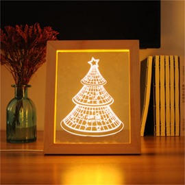 3D USB Pine Tree Modern and Creative Pine Acrylic LED Light Night
