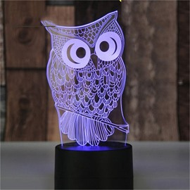 Creative Birthday Gift Concise and Modern Seven Color 3D USB LED Night Light