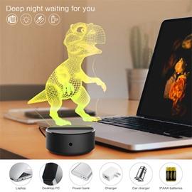 7 Colors Remote Control Dinosaur 3D Light LED Table Lamp Night Light/Lamp