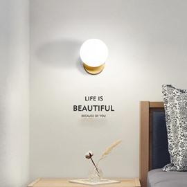 Northern Europe Post-Modern Style LED Glass Ball Wall Light