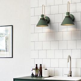 Northern Europe Style Macaron Horn Shape Iron Wall Light