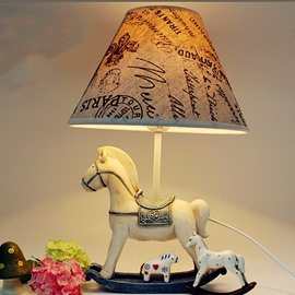 Retro Cartoon Horse Environmental Friendly Resin Material Kids Room Lamp
