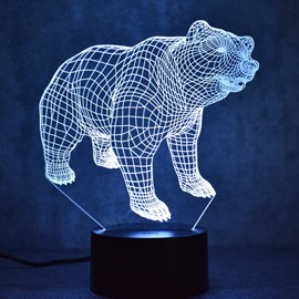 3D LED 7 Color Changing Bear Table Lamp USB Night Light/Lamp