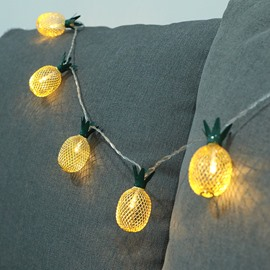 Pineapple Shape Iron Holiday Decoration LED Lights