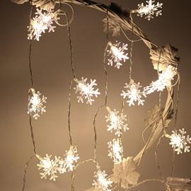 Snow Shape Plastic Holiday Decoration LED Lights