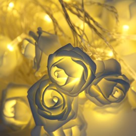 Rose Wedding Holiday Decoration Plastic LED Lights