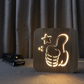 Natural Wooden Creative Like Pattern Design Light for Kids