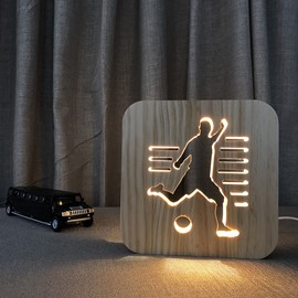 Creative Design Natural Wooden Light for Kids