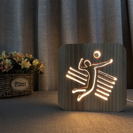 Creative Natural Wooden Vivid Pattern Light for Kids