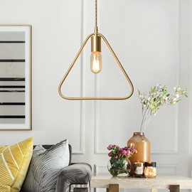 Geometric Shapes of Post-Modern Style Pendant Light (Golden Color )