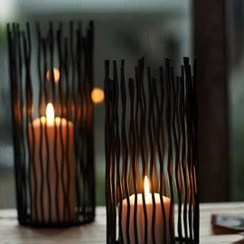 Modern European Arts Wrought Iron Candle Holders