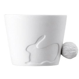 Fairy Tale Rabbit Ceramic Dual Purpose Candle Holder and Coffee Mug