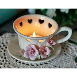 Fantastic Original Flower and Heart Design Cup Shape Candle Holder