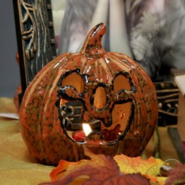 Unique Design Pumpkin Shape Halloween Decoration Candle Holder