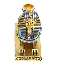 Retro and Modern Style Egypt The Sphinx of Pharaoh Design Resin Home Decorative Candle Holder