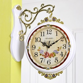 Rustic Quartz Double Faces Wall Clock