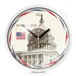 Chic American White House Decoration Mute Wall Clock