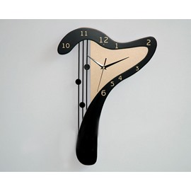 New Arrival Modern Style Lovely Harp Design Black Color Wall Clock