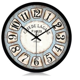 European Style Retro Arabic Numerals Metal Wall Clock