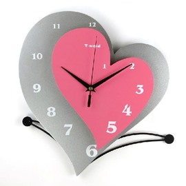 Elegant Stylish Creative Heart-shaped Wall Clock