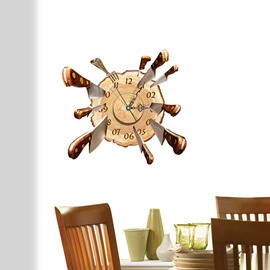 Amazing and Elegant Knives on Target 3D Sticker Wall Clocks
