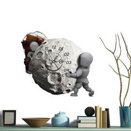 Wonderful Meteorite Moving 3D Sticker Wall Clock