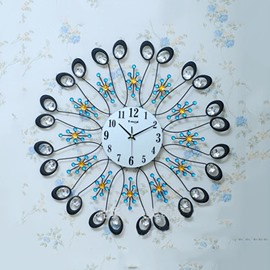 Stunning Peacock Design Bedroom Living Room Decorative Mute Wall Clock