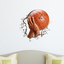 Sporty and Simple Design 3D Wall Clock