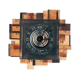 Classical Home Decorative Needle and Digital Sticker Wall Clock