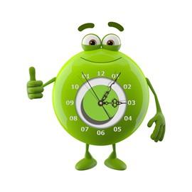 Green Cute Frog Shape Needle and Digital Sticker Wall Clock