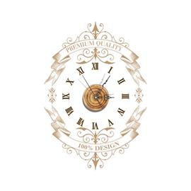 Unique Design Decorative Needle and Digital Sticker Wall Clock