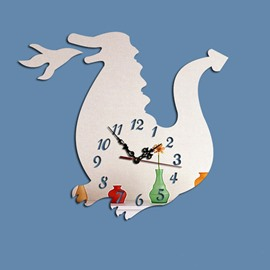 Amusing Creative Acrylic Cartoon Animal Pattern Battery Wall Clock