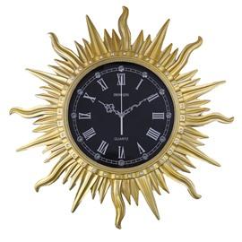 Vintage European Style Sun Shape Design Mute Battery Wall Clock