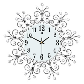 Separates Combination Creative Pattern Design Iron Art Material Wall Clock