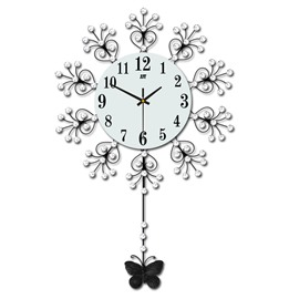 Iron Art Material Needle&Digital Display Type Separates Combination Wall Clock